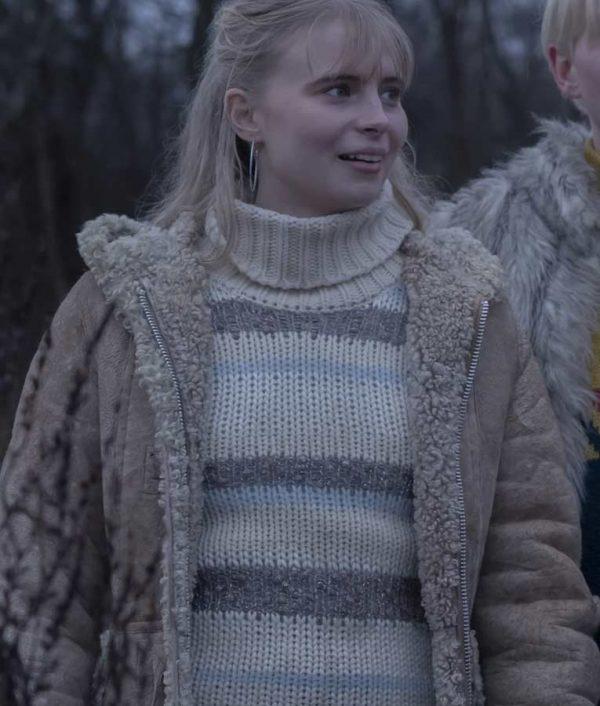Karoline Hamm Equinox 2020 Ida Coat | Karoline Hamm Shearling Trim Coat