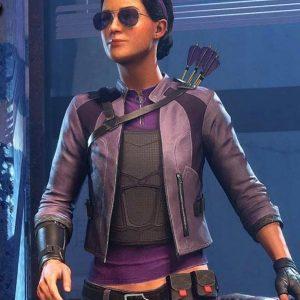 Womens Kate Bishop Leather Jacket | Kate Bishop Marvel's Avengers Jacket