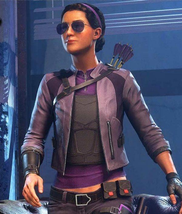 Womens Kate Bishop Leather Jacket   Kate Bishop Marvel's Avengers Jacket
