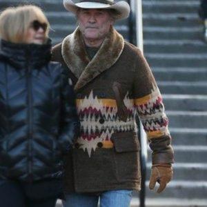 Kurt Russell Shearling Coat