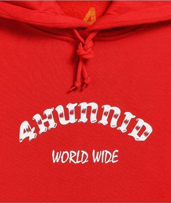 Large 4 Worldwide Red Hoodie