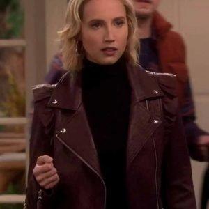 Last Man Standing Molly McCook Moto Leather Jacket | Mandy Baxter Jacket