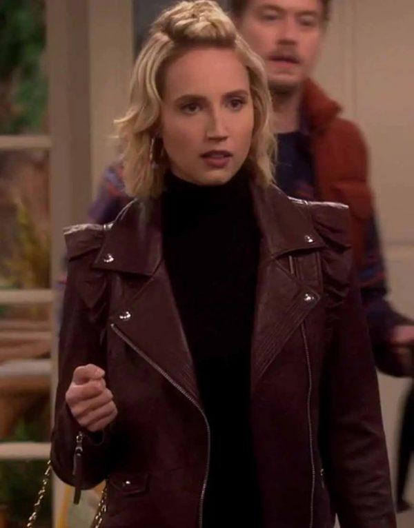 Last Man Standing Molly McCook Moto Leather Jacket   Mandy Baxter Jacket