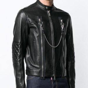 Mens Black Leather Cafe Racer Jackets