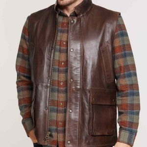 Mens Brown Lambskin Vest1