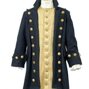 Buccaneer Blue Pirate Coat | Buccaneers Wool Pirate Jacket