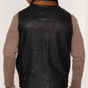 Mens Goatskin Leather Vests