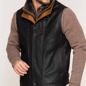 Mens Goatskin Leather Vest1