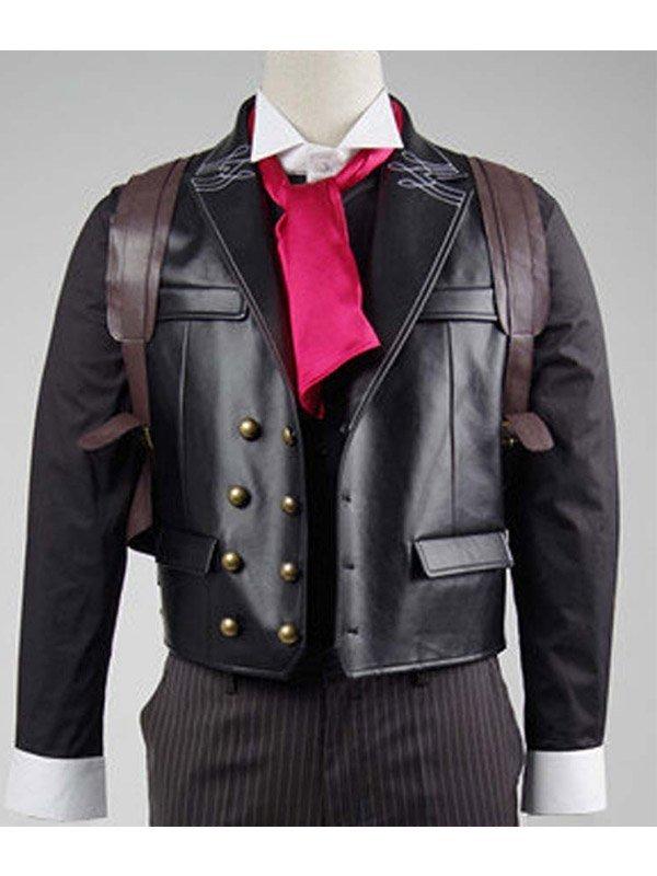 Booker Dewitt Bioshock Infinite Game Black Leather Vest- Hit Jackets