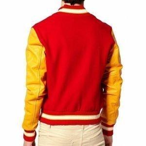 Michael Jackson Red Varsity Jacket
