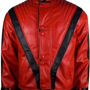 Thriller Michael Jackson Thriller Red Leather Jacket
