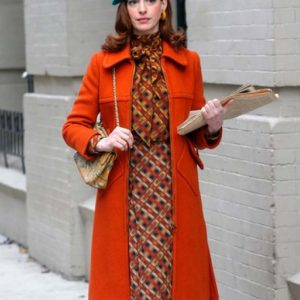 Anne Hathaway Modern Love Lexi Trench Orange Coat