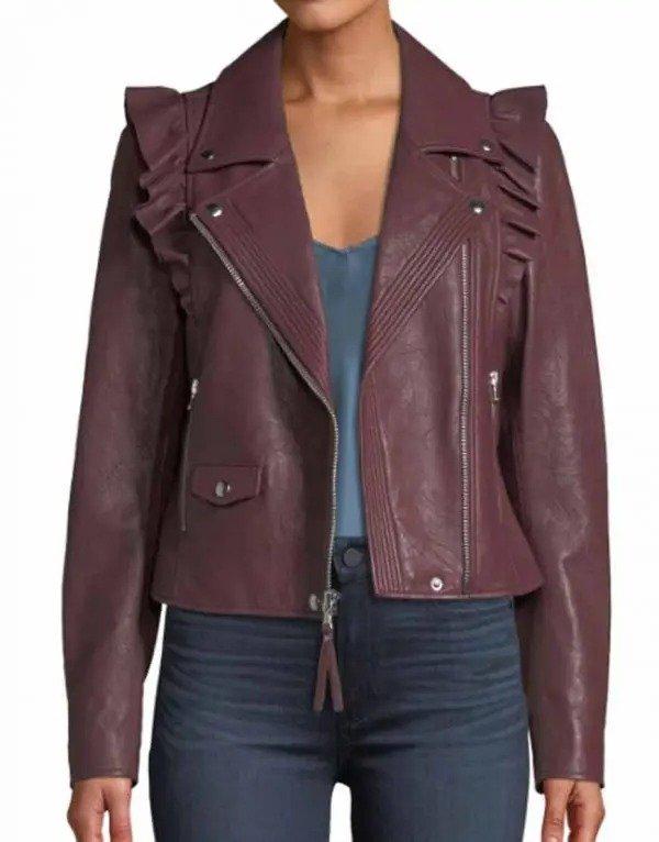 Last Man Standing Molly McCook Moto Leather Jacket