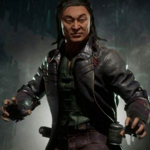 Mortal Kombat 11 Black Real Leather Shang Tsung Coat