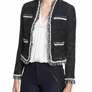 Last Man Standing Vanessa Baxter Blue Tweed Jacket | Nancy Travis Jacket