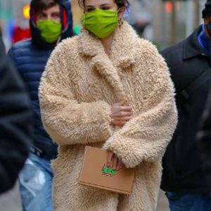 Only Murders In The Building Selena Gomez Fur Coat
