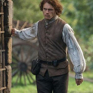 Outlander Season 03 Jamie Fraser Brwon Vest - Sam Heughan Vest