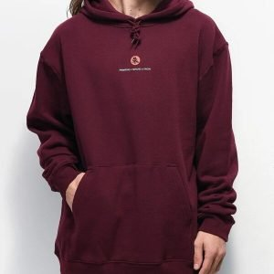 Crows Burgundy Primitive x Naruto Pullover Hoodie