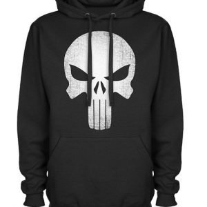 Skull Logo Black Pullover Punisher Hoodie
