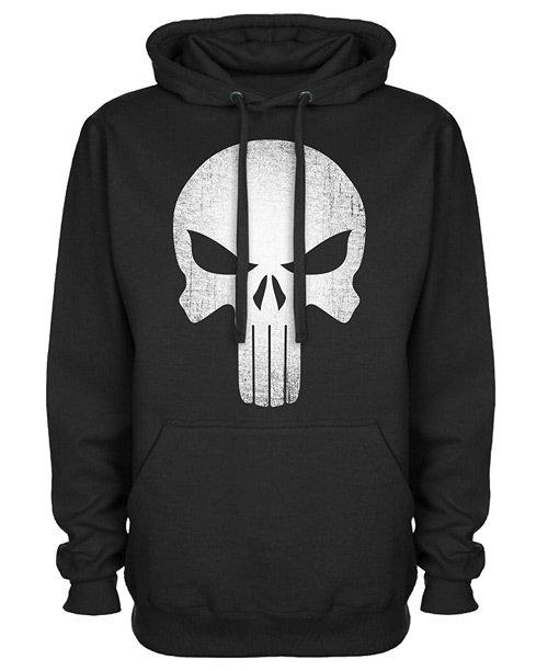 Skull Logo Black Pullover Punisher Hoodie