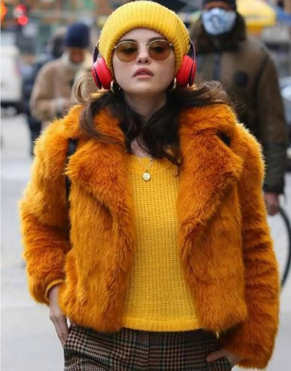 Selena Gomez's Fur Jacket - Only Murders In The Building Jackets
