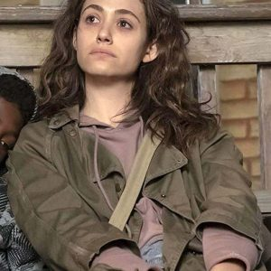 Shameless Emmy Rossum Brown Jacket