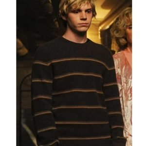 Amer­i­can Hor­ror Sto­ry Tate Langdon Brown Sweater | Langdon Stripe Sweater