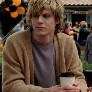 Amer­i­can Hor­ror Sto­ry Tate Langdon Brown Cardigan | Free Shipping