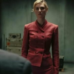 Kat Tenet Elizabeth Debicki Double-Breasted Coat