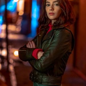 Natalie Dreyfuss The Flash S06 Sue Dearbon Black Leather Jacket
