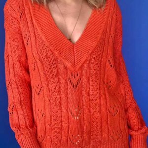 The Kissing Booth 2 Joey King Orange Sweater