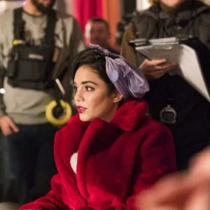 The Princess Switch: Switched Again - Vanessa Hudgens Red Fur Coat