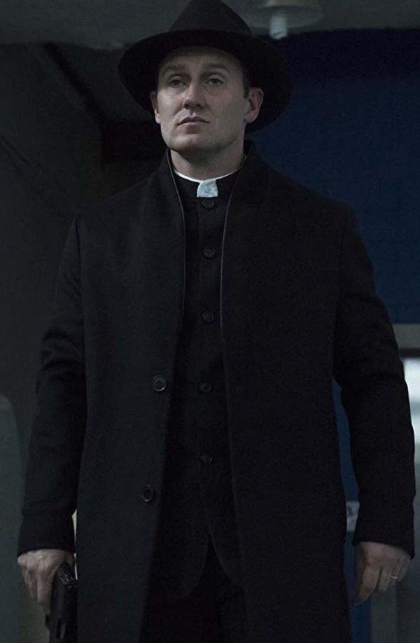 Josh Stewart The Punisher 2 John Pilgrim Black Trench Coat