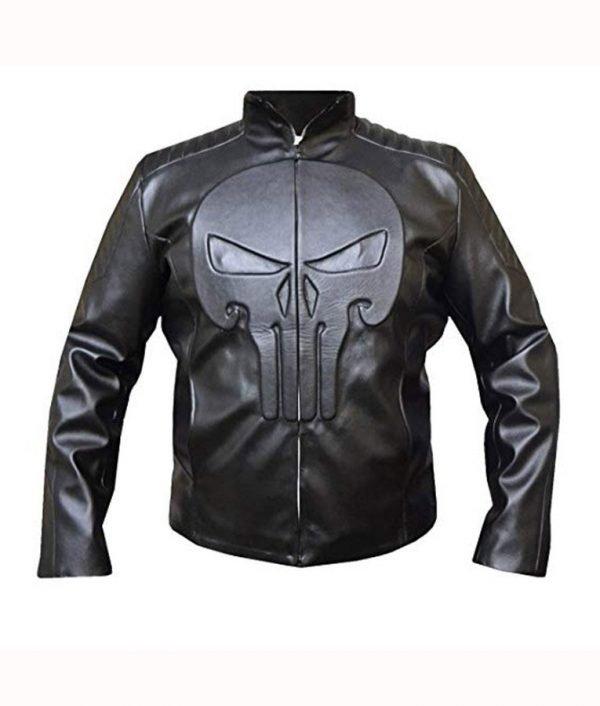 Jon Bernthal TV-Series The Punisher Frank Castle Leather Jacket