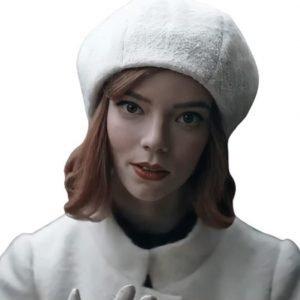 The Queen's Gambit Beth Harmon White Cap | Anya Taylor-Joy Cap for Sale
