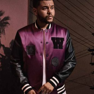 H&M Purple Varsity Jacket