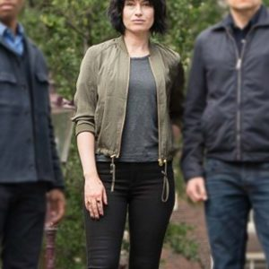 Lucienne Hassell TV Series Van der Valk Maimie McCoy Green Bomber Jacket