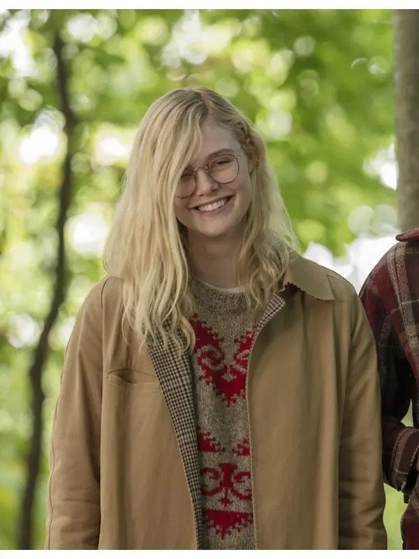 Violet-Markey-All-The-Bright-Places-Elle-Fanning-Brown-Coat