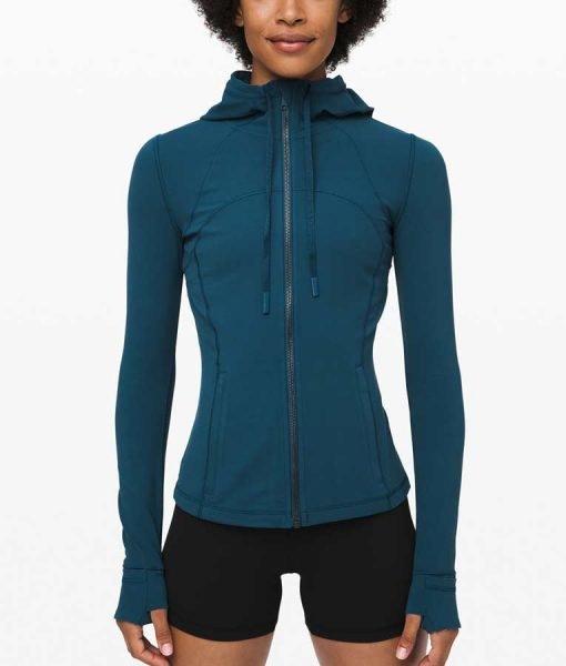 Virgin River S02 Melinda Monroe Blue Hooded Jacket | Free Shipping