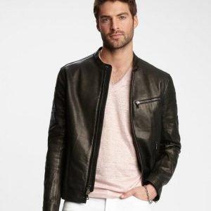 William Mens Black Leather Jackets