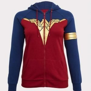 Wonder Woman Sweatshirt | Wonder Woman Red and Blue Sweatshirt