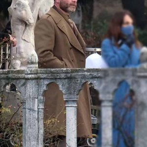 Colonel Richard Cantwell Across the River & Into The Trees Liev Schreiber Brown Coat