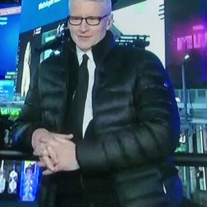 Anderson Cooper Black Down Puffer Jacket