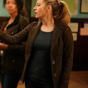 Jenny Hoyt Big Sky Brown Suede Leather Blazer Coat