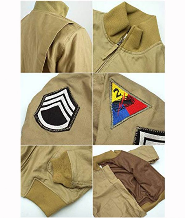 Fury Brad Pitt WW2 Bomber Jacket