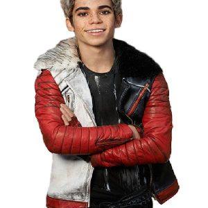 Cameron Boyce Descendants Carlos Shearling Leather Jacket
