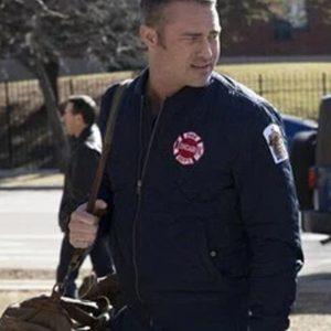Kelly Severide TV Series Chicago P.D. Taylor Kinney Bomber Blue Jacket
