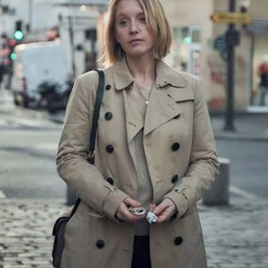 Ludivine Sagnier TV Series Lupin Claire Brown Wool Trench Coat
