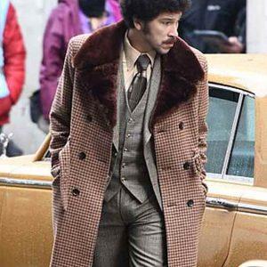 Joel Fry Cruella 2021 Jasper Coat with Shealing Collar