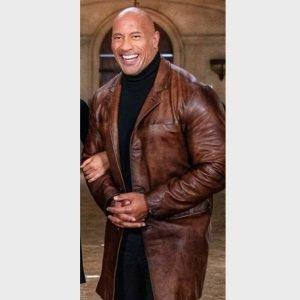 Red Notice Dwayne Johnson Coat